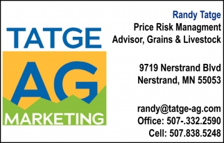 Randy Tatge - Price Risk Management