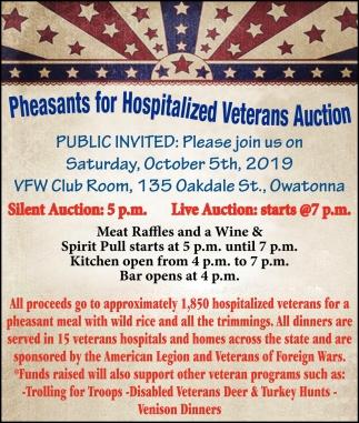 Pleasant for Hospitalized Veterans Auction