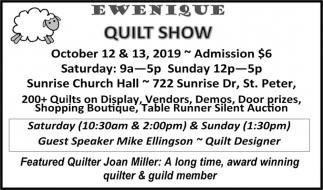 October 12 & 13 at Sunrise Church Hall