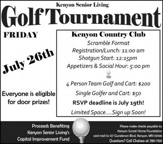 Golf Tournament - Kenyon Country Club