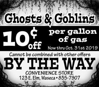 10¢ off per gallon of gas
