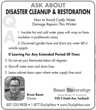 Ask About Disaster Cleanup and Restoration