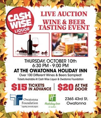 Live Auction - Wine & Beer Tasting Event