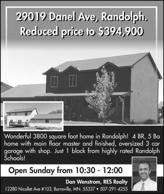 Open House: 29019 Danel Ave, Randolph