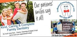 Our patients' smiles say ot all!