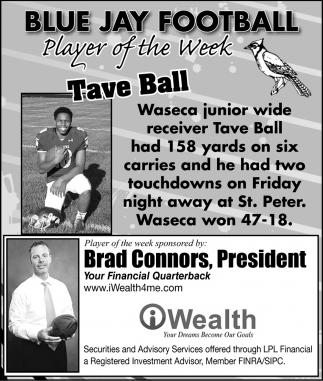 Blue Jay Football - Prayer of the Week - Tave Ball