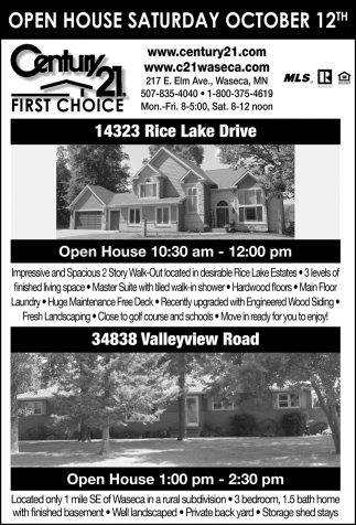 Open House - October 12th