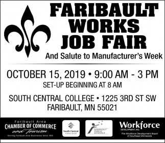 Faribault Works Job Fair - October 15