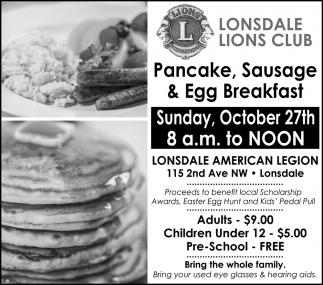 Pancake, Sausage & Egg Breakfast - October 27th