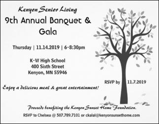 9th Annual Banquet & Gala - November 14