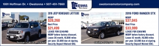 2019 Jeep Renegade Latitude| 2019 Ford Ranger STX