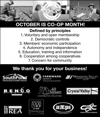 October is Co-Op Month