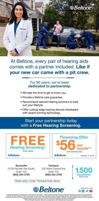 Start your partnership today with a Free Hearing Screening