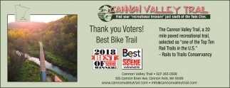 Thank You Voters! Best Bike Trail