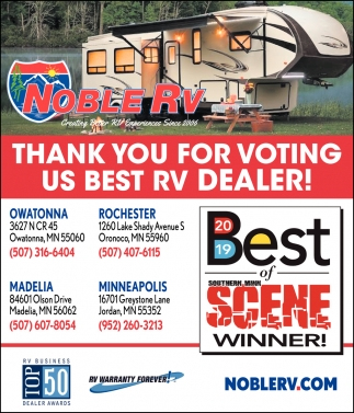 Thank You for Voting Us Best RV Dealer!