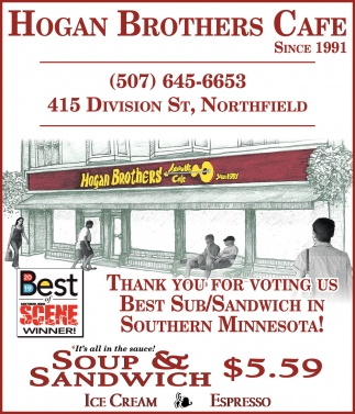 Thank You for Voting  Us for Best Sub/Sandwich in Southern Minnesota!