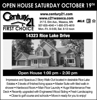 Open House - October 19th