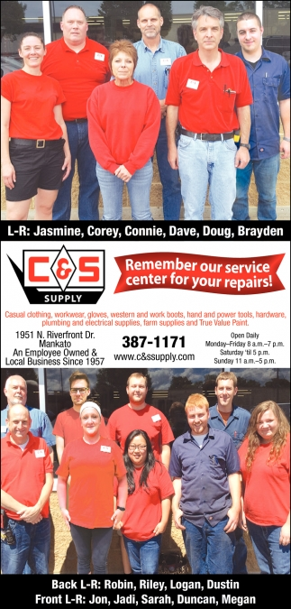 Remember our service center for your repairs!