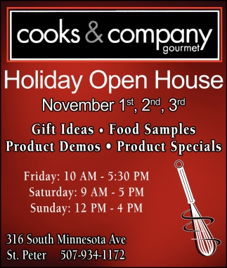 Holiday Open House - November 1st, 2nd, 3rd