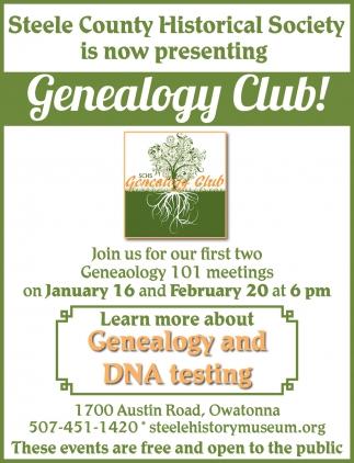 Presenting Genealogy Club!