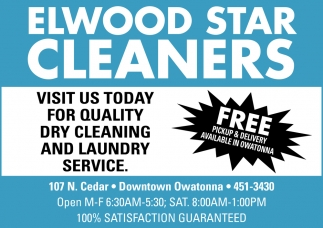 Visit us today for quality dry cleaning and laundry service