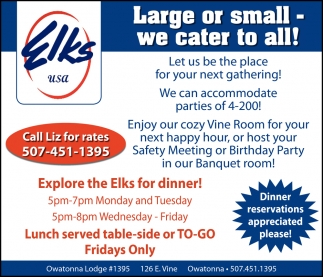 Large or small - We cater to all!