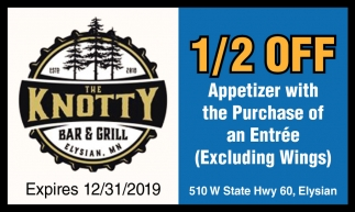 1/2 Off Appetizer with the Purchase of Entrée