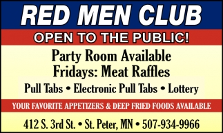 Party RoomAvailable - Fridays: Meat Raffles