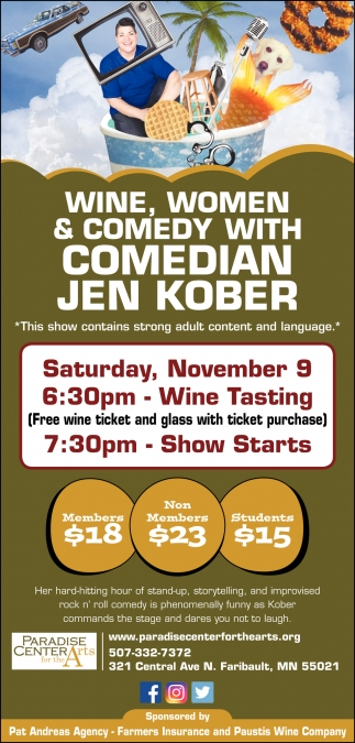 Wine, Women & comedy with Comedian Jen Kober