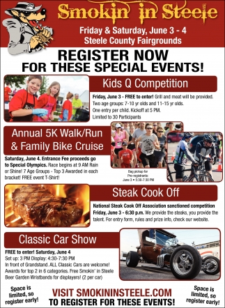 REGISTER NOW FOR THESE SPECIAL EVENTS!