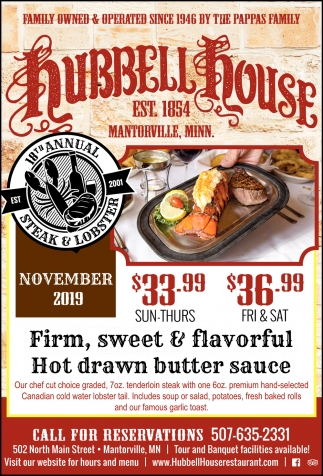 Firm, sweet & flavorful - Hot drawn butter sauce
