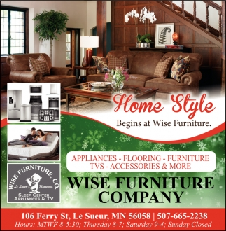 Home Style - Begins at Wise Furniture