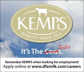 It's the Jobs