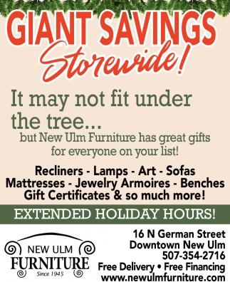 Giant Savings! - Storewide!