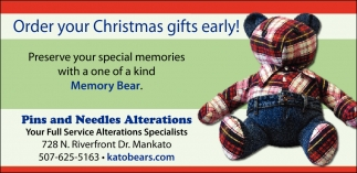 Order your Christmas gifts early!