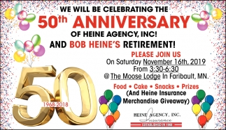 We Will Be Celebrating The 50th Anniversary