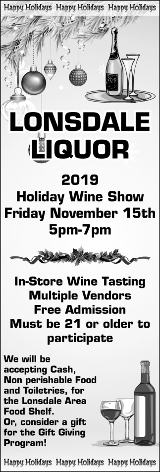 Holiday Wine Show - November 15th