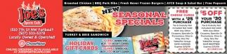 New Seasonal Specials