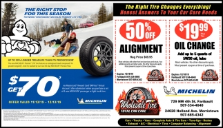 50% Off Alignment | Oil Change $19.99