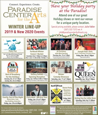 Winter Line-Up - 2019 & New 2020 Events