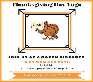 Thanksgiving Day Yoga  - November 28st