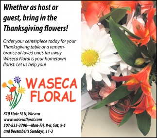 Whether as host or guest, bring in the Thanksgiving flowers!