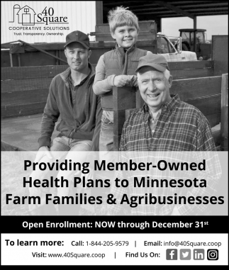 Providing Member- Owned Health Plans to Minessota Farm Families & Agribusinesses