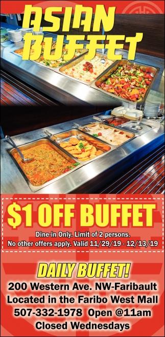 $1 off buffet