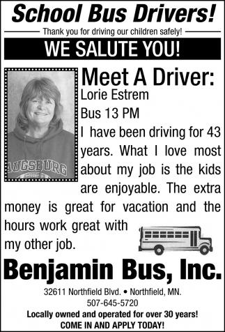 Meet The Drivers:  , Lorie Estrem