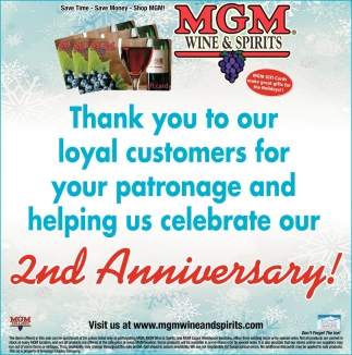 Thank you to our loyal customers for your patronage and helping us celebrate our 2nd Anniversary!
