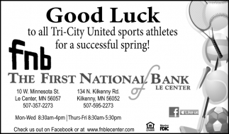 Good Luck to all Tri-City United sports athletes for a successful spring!