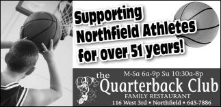 Supporting Northfield Athletes for over 51 years!
