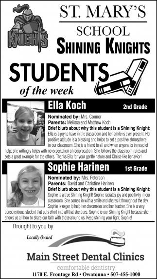 Students of the Week - Ella Koch, Sophie Harinen