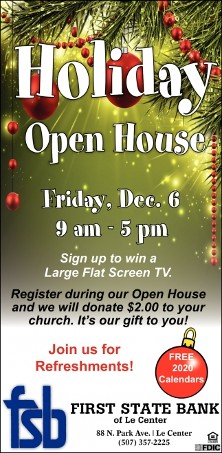 Holiday Open House - Dec. 6